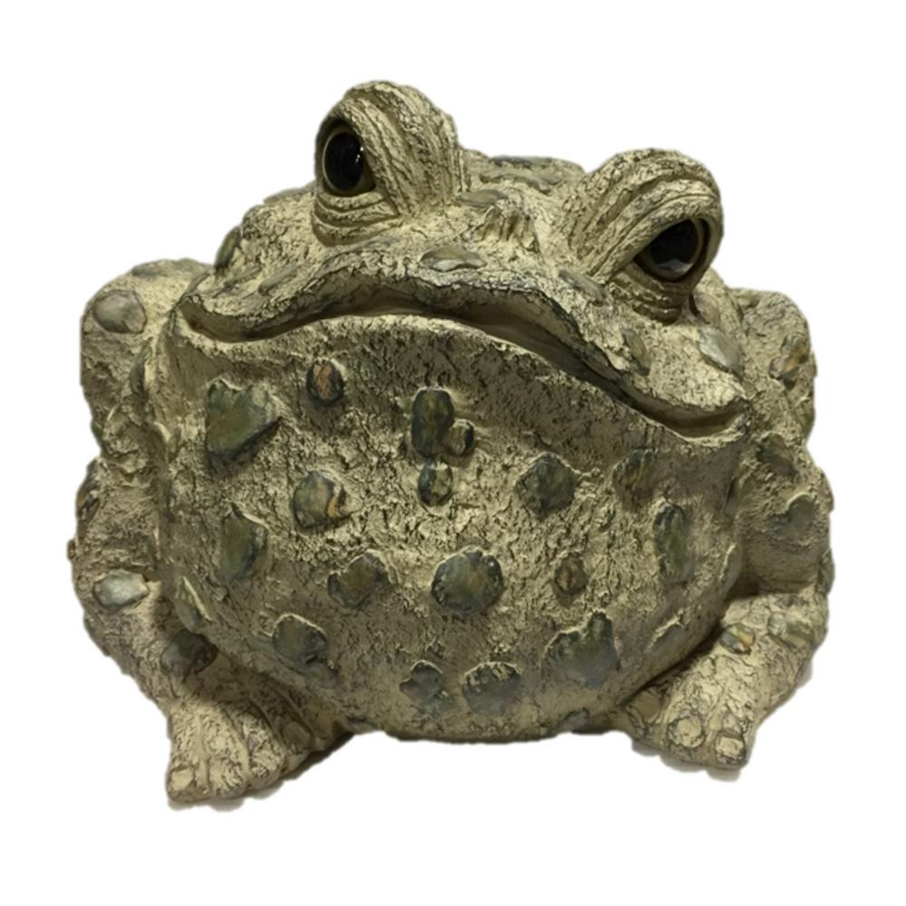 HOMESTYLES Toad Hollow 15 in. H Super Jumbo Classic Toad Whimsical Home and Garden Statue