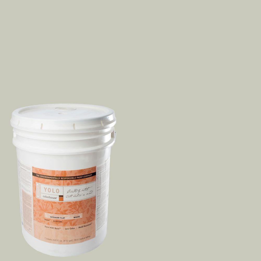 YOLO Colorhouse 5-gal. Stone .04 Flat Interior Paint-DISCONTINUED