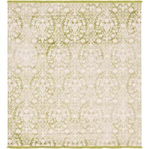 Unique Loom Arcadia Light Green 8 Ft. X 8 Ft. Square Area Rug 3131317   The  Home Depot