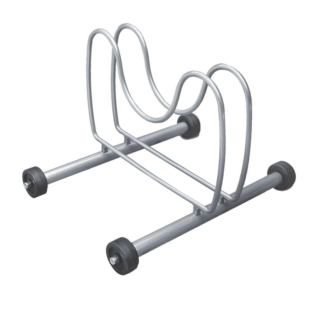 The Art of Storage Art of Storage Silver Rolling Bike Rack