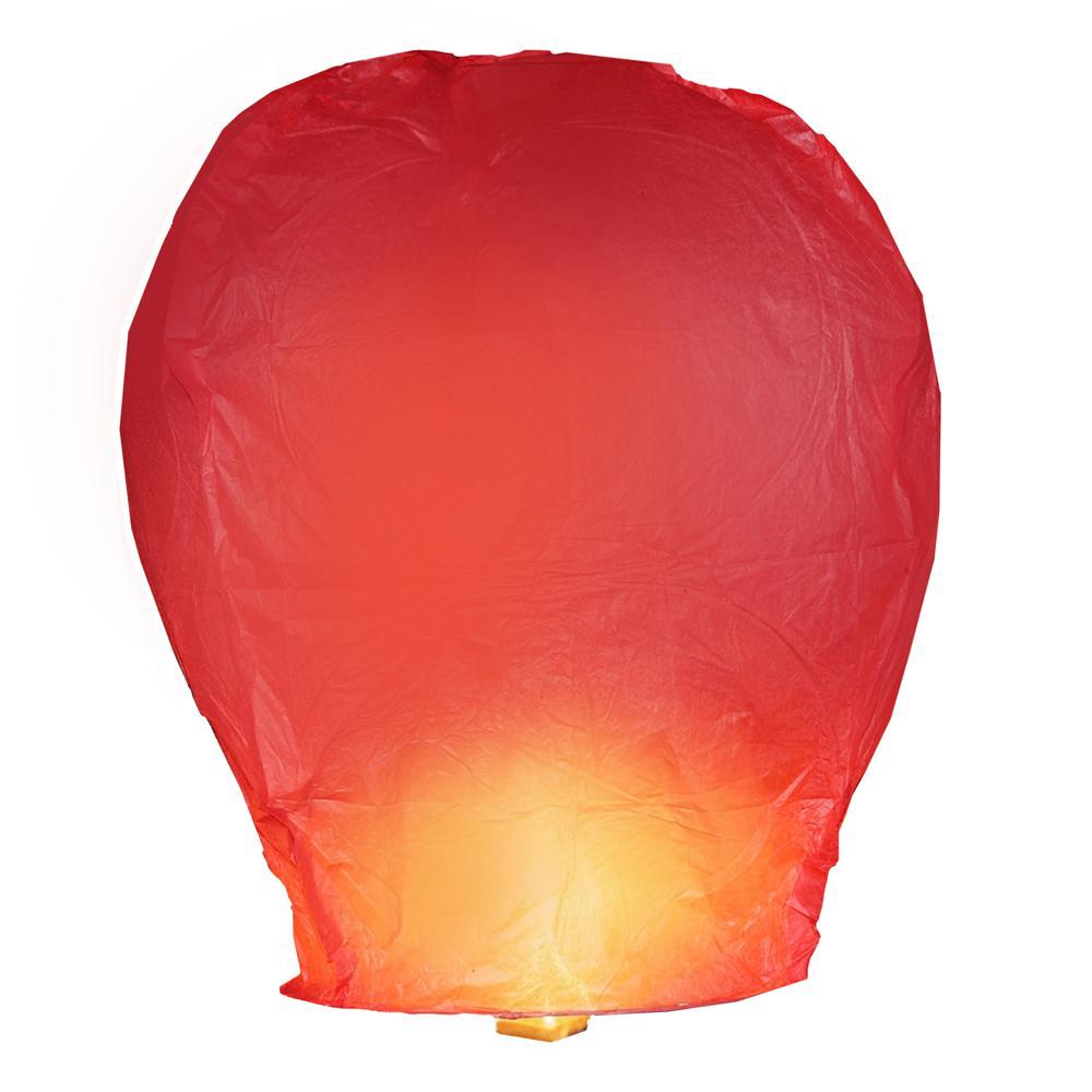 Lumabase Red Sky Lanterns (Set of 4)