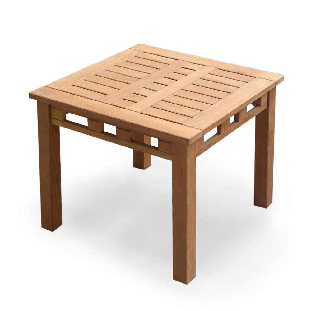 Cambridge Casual Belize Teak Square Wood Outdoor Side ...