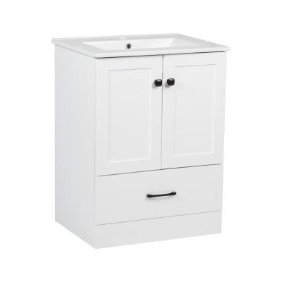 23 in. W x 18 in. D Bath Vanity Cabinet Only in White
