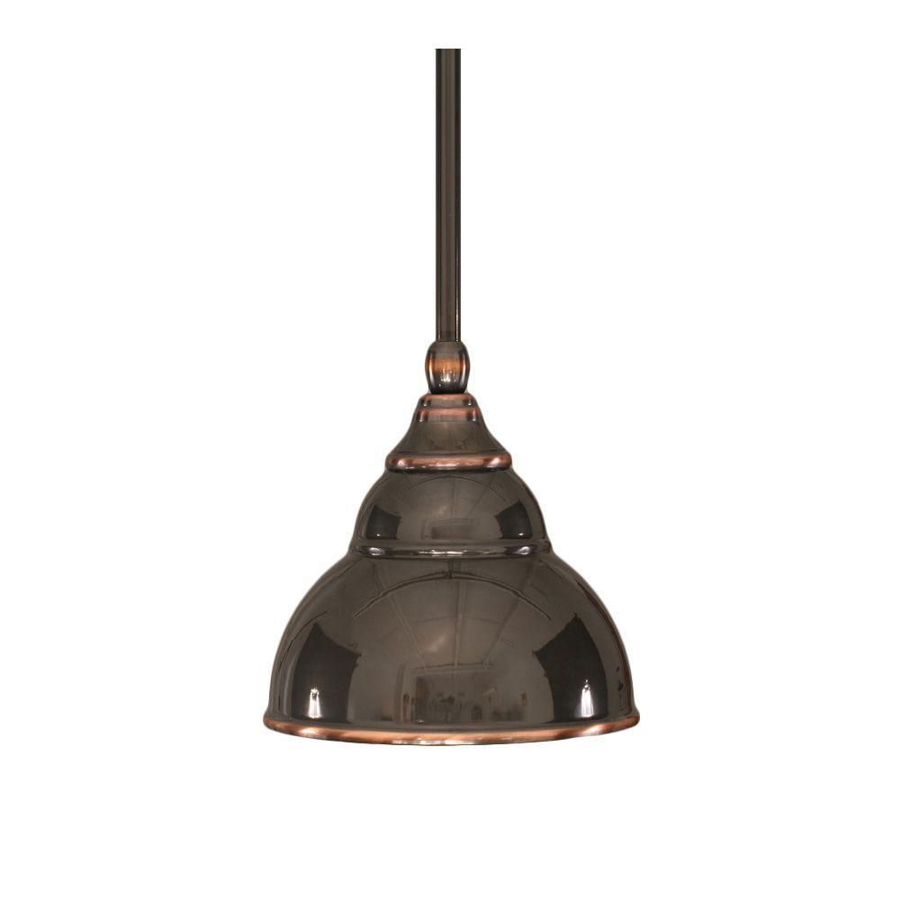 Filament Design Concord 1-Light Ceiling Black Copper Halogen Pendant-DISCONTINUED