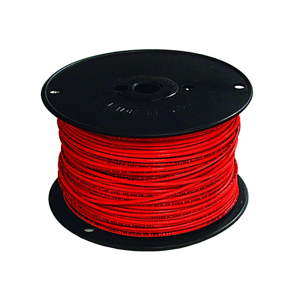 Southwire 500 ft. 18 Red Stranded CU TFFN Fixture Wire-27023101 ...