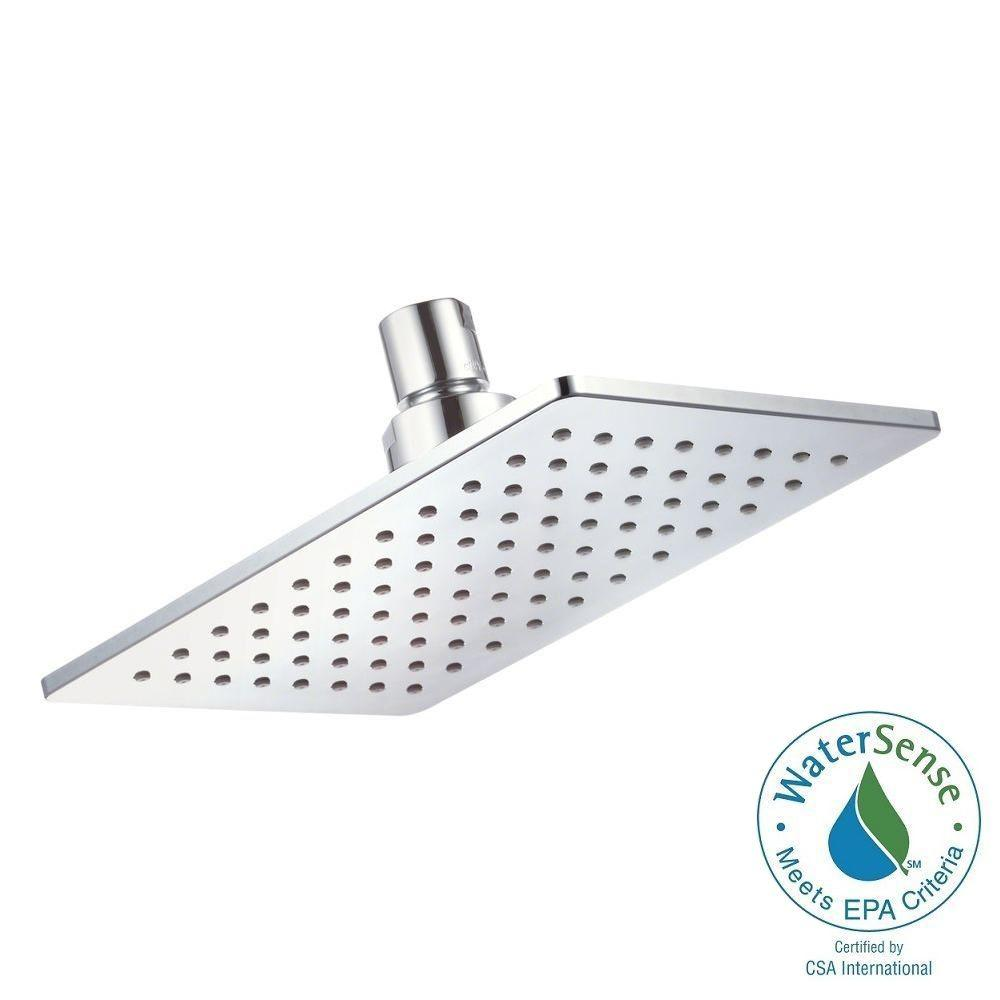 Danze Mono Chic 1-Spray 5 in. x 8 in. Rectangular Fixed Shower Head in Chrome