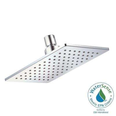 Mono Chic 1-Spray 5 in. x 8 in. Rectangular Fixed Shower Head in Chrome
