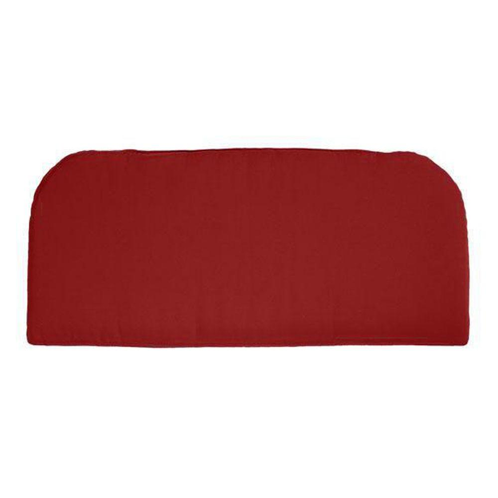 Home Decorators Collection Sunbrella Jockey Red Outdoor Contoured Bench Cushion