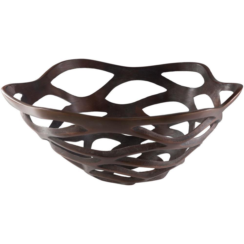 Edrao Copper 16 in. Decorative Bowl