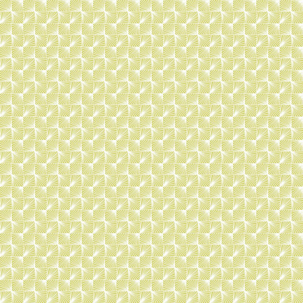 Stockholm Lime Geometric Wallpaper