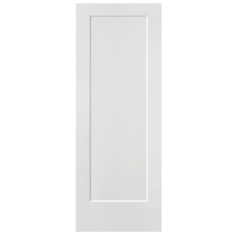 Masonite 30 in x 80 in lincoln park primed 1 panel solid for Www masonite com interior doors