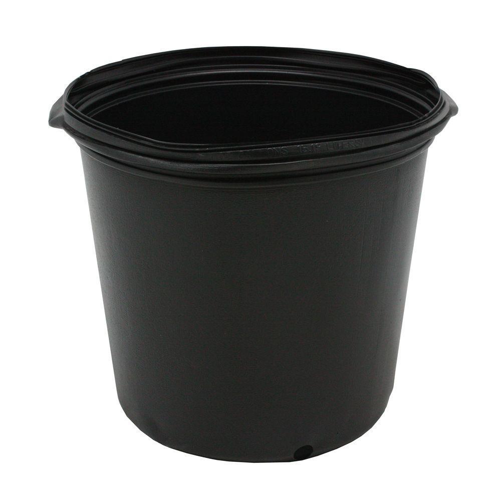 1/2 Gal. Plastic Nursery Trade Pots ( .62 Gal / 2.5 Qt. / 2.37 l) 20-Pack