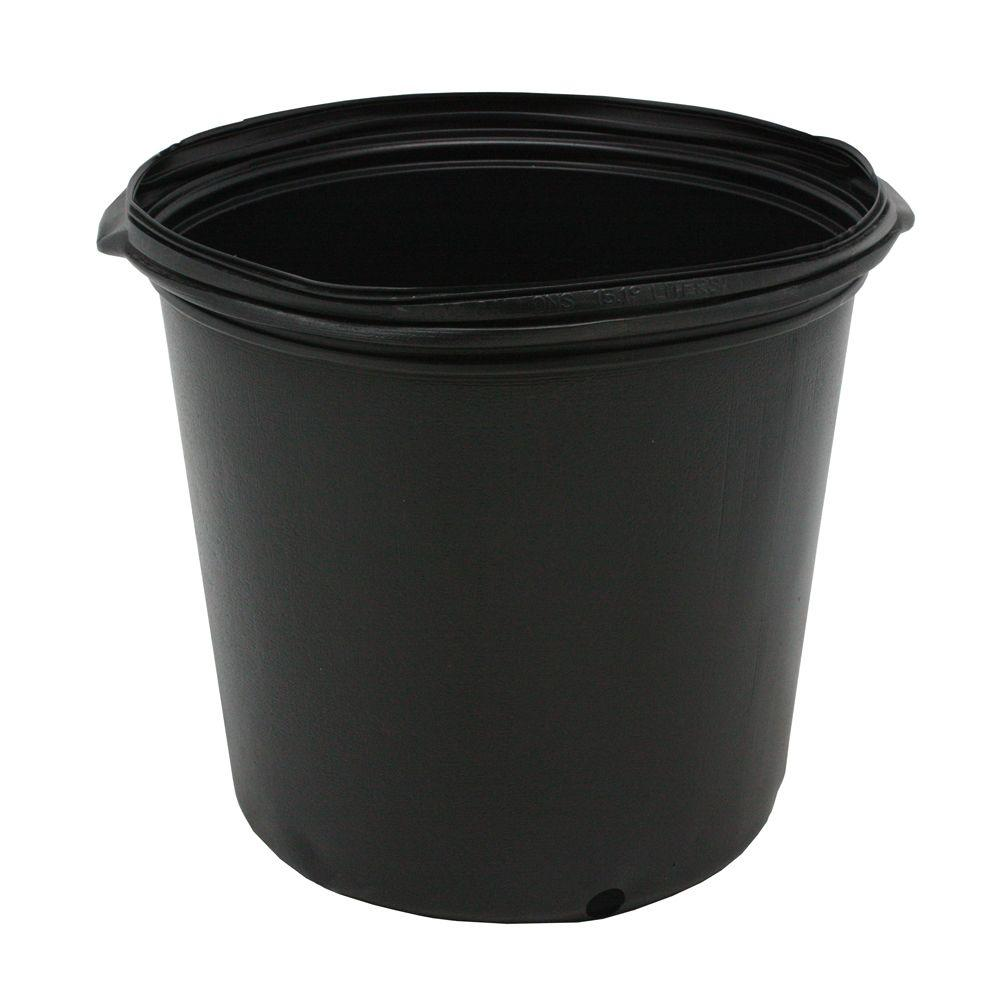 Viagrow 1 2 Gal Plastic Nursery Pots 50 Pack Vhpp50 50