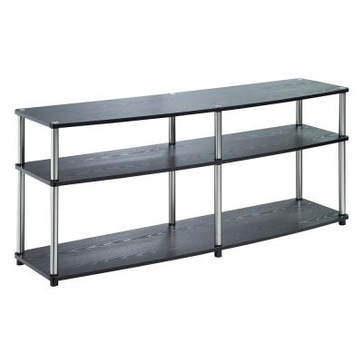 Designs2Go Black 3 Tier 60 in. TV Stand