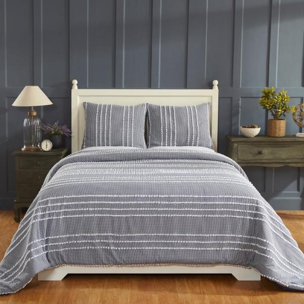 Better Trends Winston Navy King Comforter SS-QUWIKINV