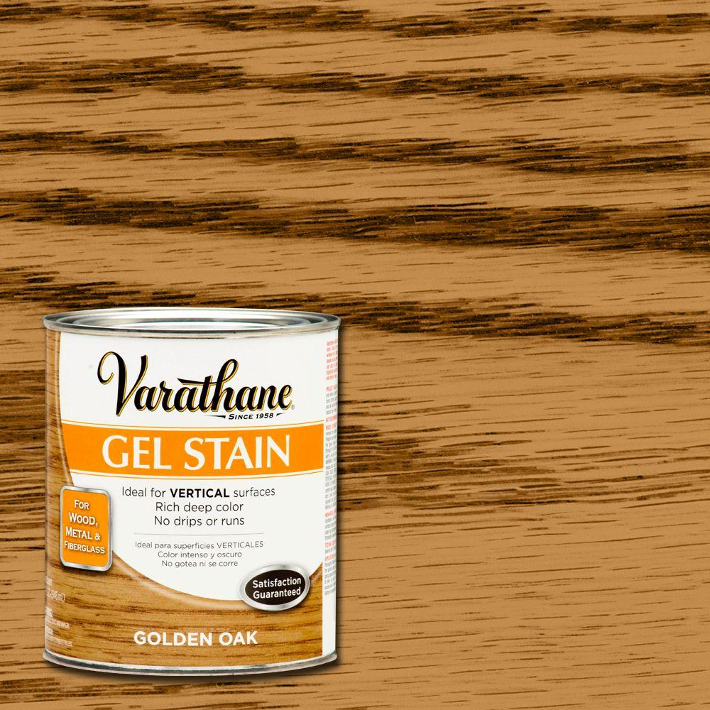 Varathane 1 Qt Golden Oak Gel Stain Case Of 2 266339 The Home Depot