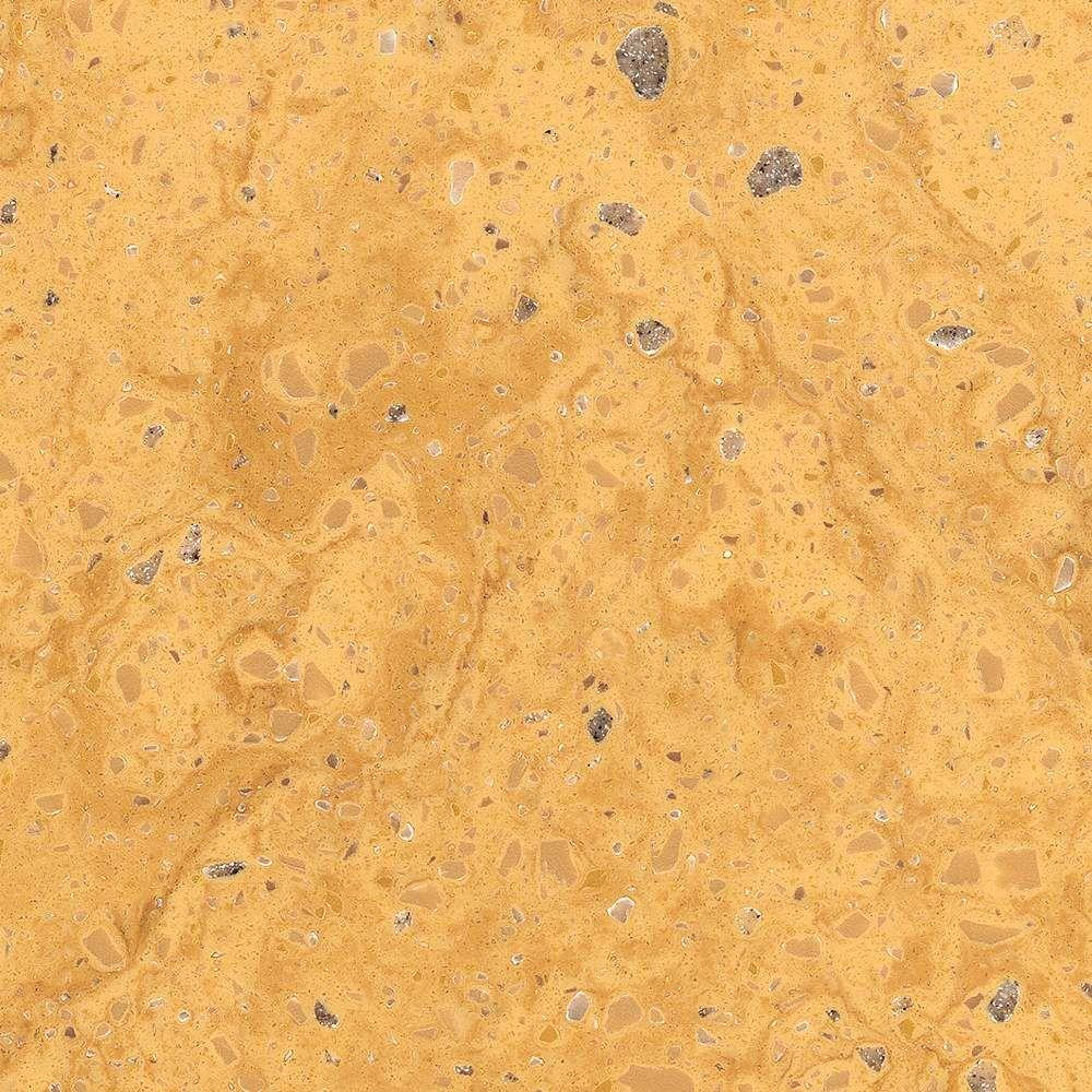 Corian 2 in. Solid Surface Countertop Sample in Aztec Gold