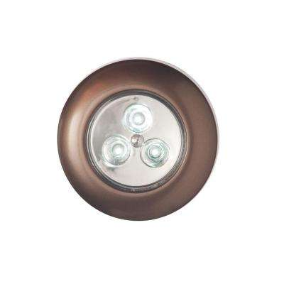 Bronze Stick-on Puck Light 3-Pack
