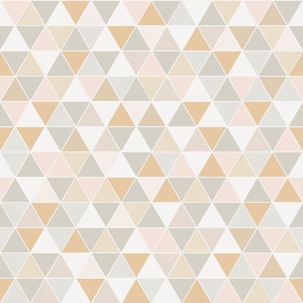 8 in. x 10 in. Triangular Off-White Geometric Wallpaper Sample