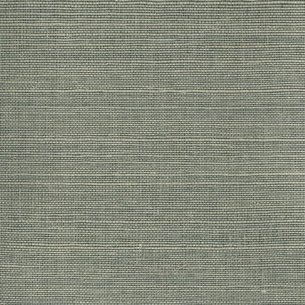 Heisoku Slate Grasscloth Wallpaper Sample