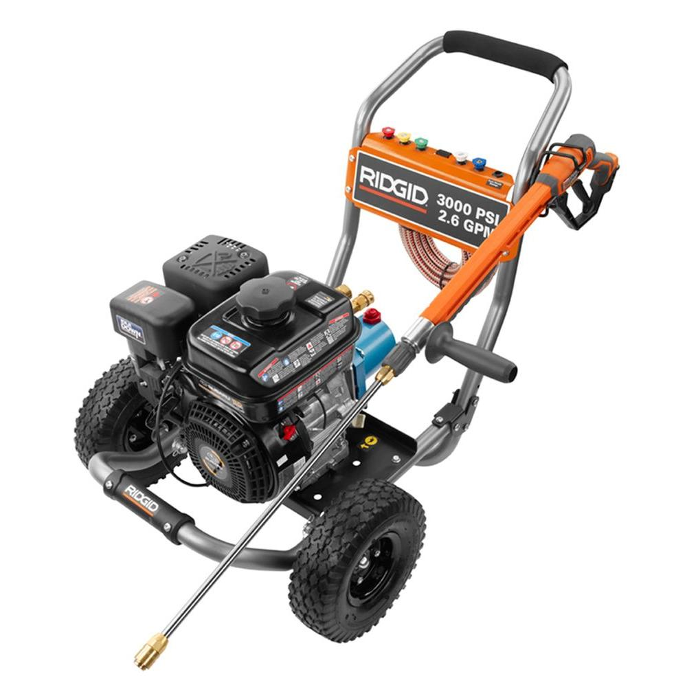 RIDGID 3000-PSI 2 6-GPM Subaru Engine Gas Pressure Washer with Cat Pump and  Idle Down