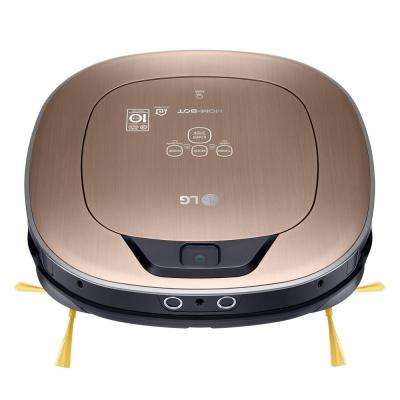 Hom-Bot Smart Robotic Vacuum Cleaner with WiFi Enabled in Metal Gold