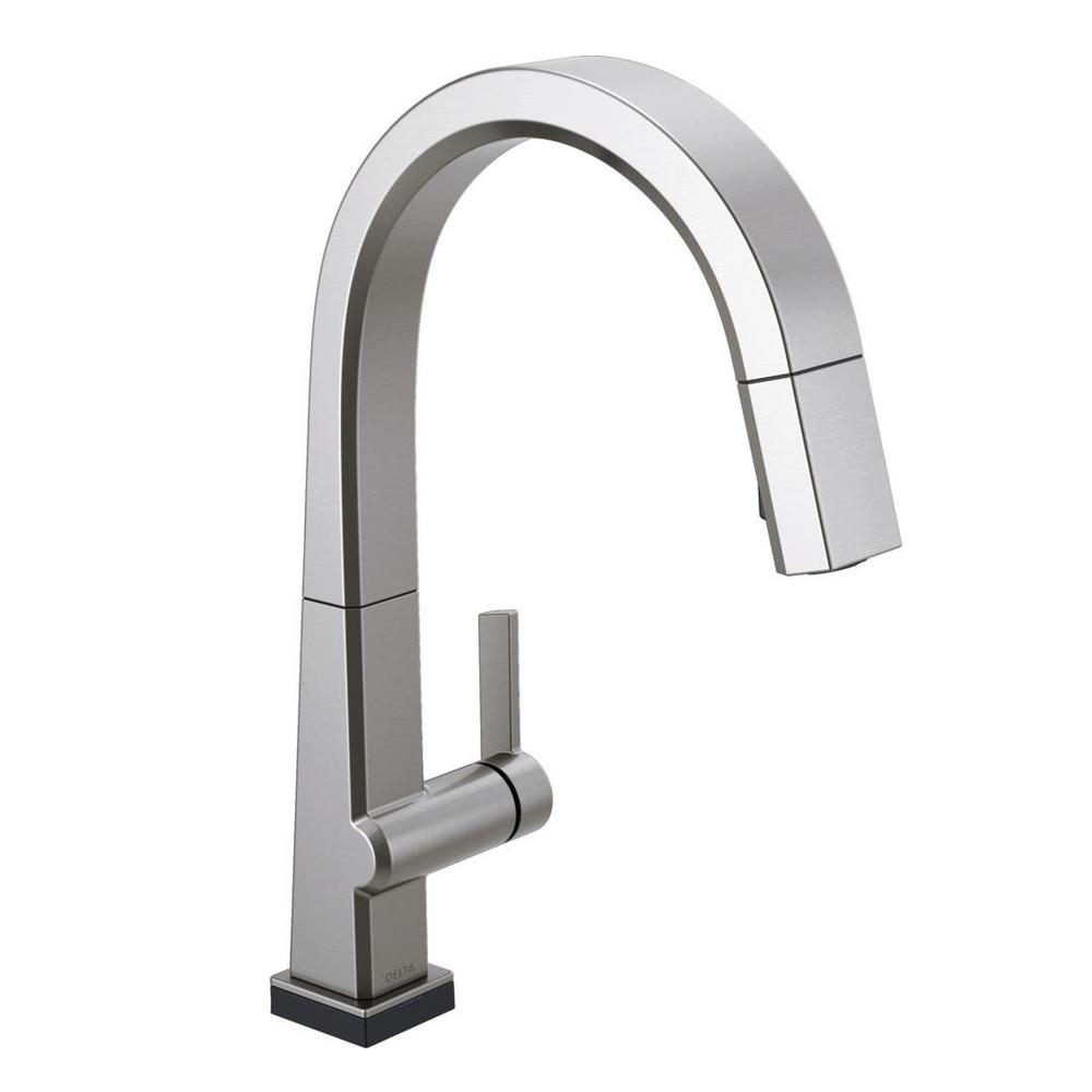 Pivotal Single-Handle Pull-Down Sprayer Kitchen Faucet with Touch2O Technology and MagnaTite Docking in Arctic Stainless