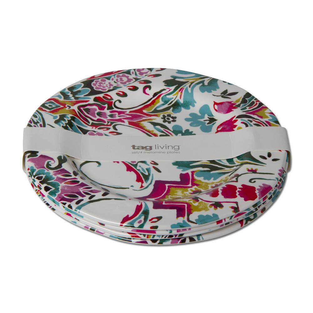 3fdda67136f Tag Eden Multicolor Melamine Dinner Plate (Set of 4)-TAG208188 - The ...