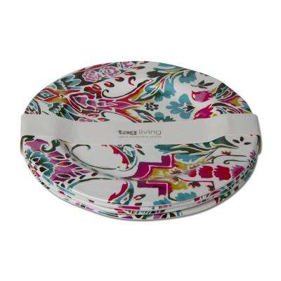 Eden Multicolor Melamine Dinner Plate (Set of 4)