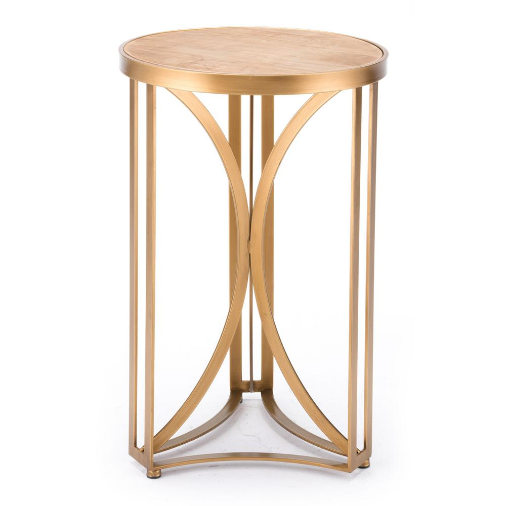 Zuo Spinner Gold Small Table