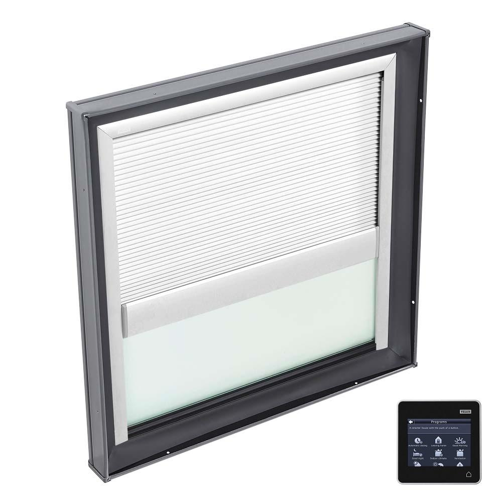 22-1/2 in. x 22-1/2 in. Fixed Curb Mount Skylight w/ Tempered