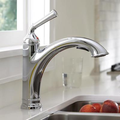 Portsmouth Single-Handle Pull-Out Sprayer Kitchen Faucet 1.8 gpm in Polished Chrome