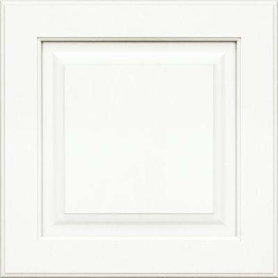 15x15 in. Cabinet Door Sample in Piermont Maple Square with Dove White