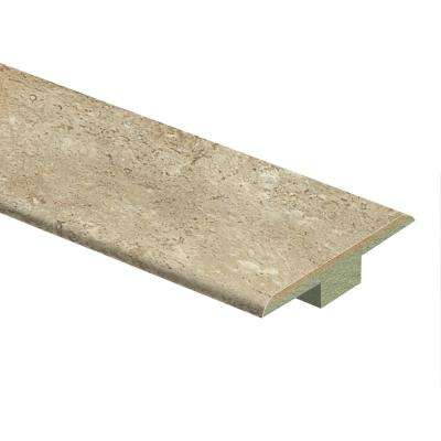 Vanilla Travertine 7/16 in. Thick x 1-3/4 in. Wide x 72 in. Length Laminate T-Molding