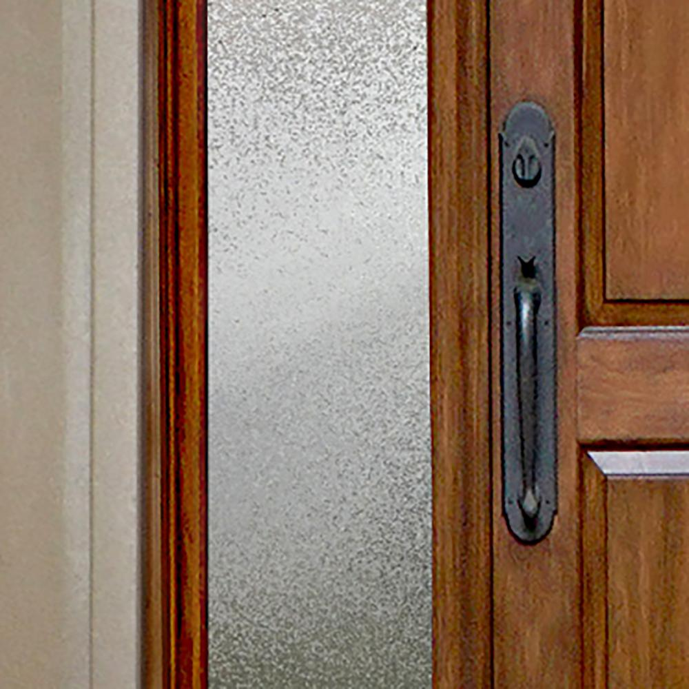 Gila 12 in. x 78 in. Ice Chips Privacy Control Sidelight Window Film
