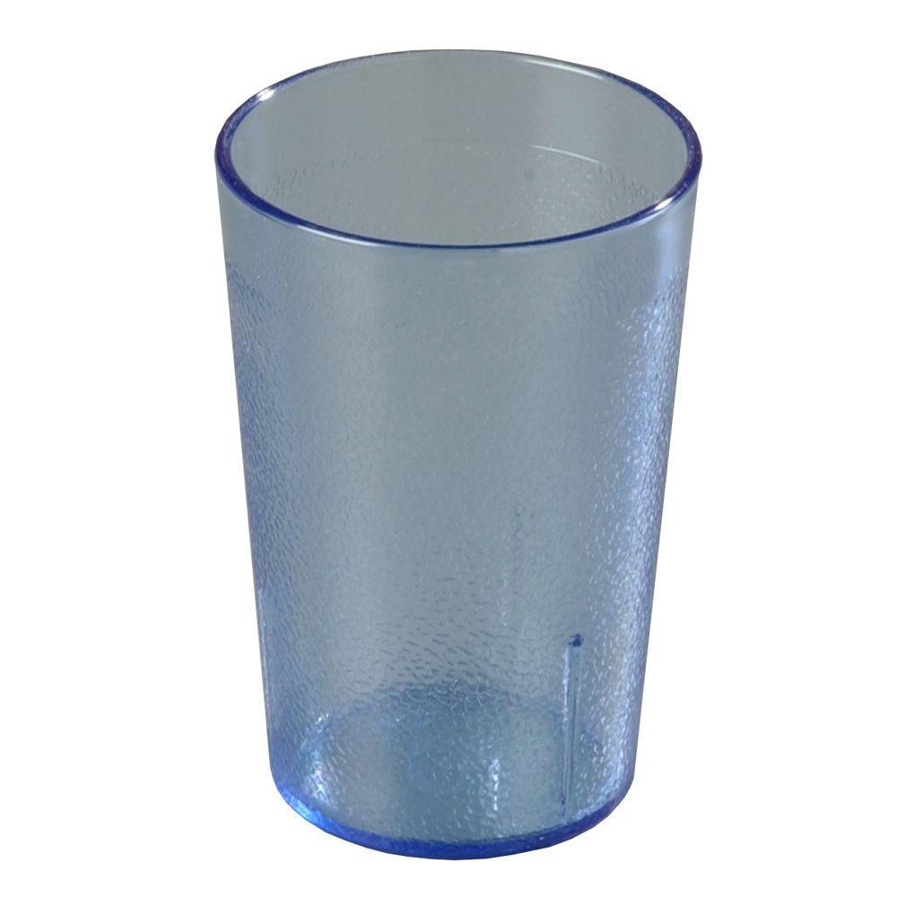 9.5 oz. SAN Plastic Stackable Tumbler in Blue (Case of 72)