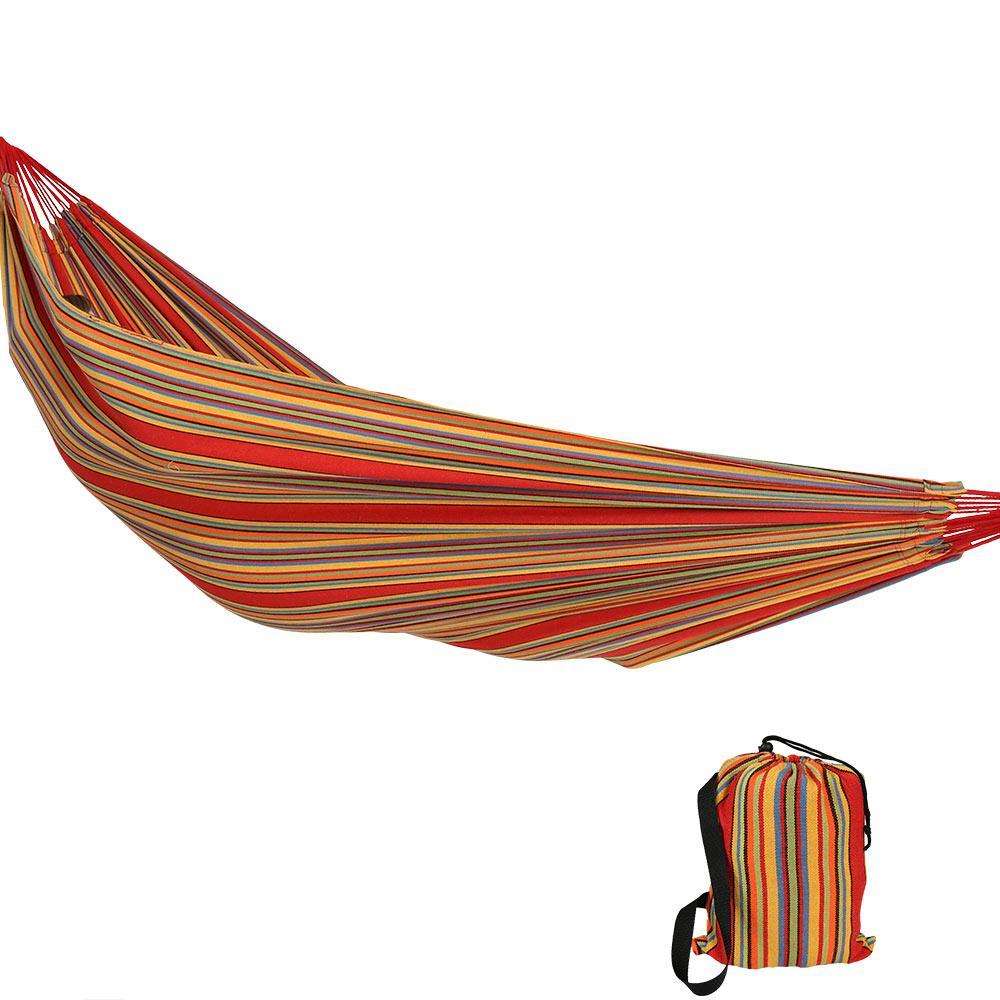 11.5 ft. Fabric Jumbo 2-Person Brazilian Hammock in Sunset