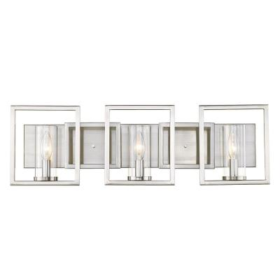 Marco 24 in. 3-Light Pewter Vanity-Light with Dimmable