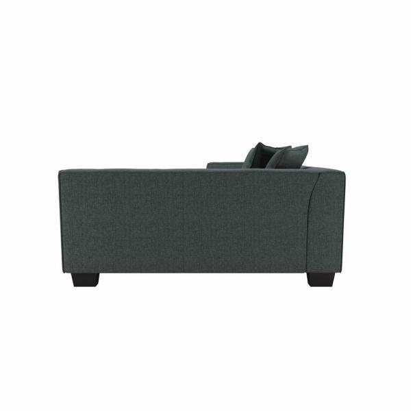 Handy Living Yara Sectional Sofa With Ottoman In Performance