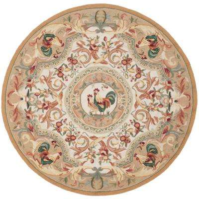 Chelsea Taupe 5 ft. 6 in. x 5 ft. 6 in. Round Area Rug