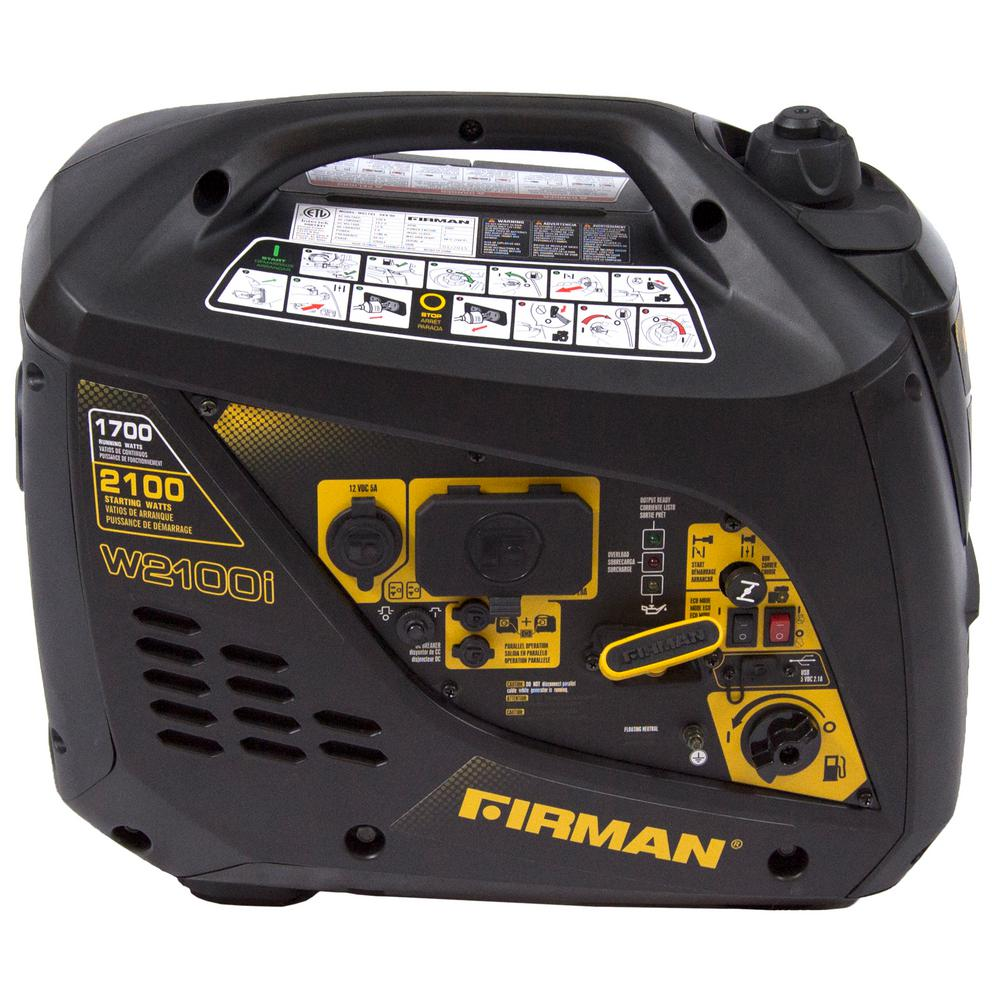 1,700-Watt Gas Powered Manual Start Portable Inverter Generator