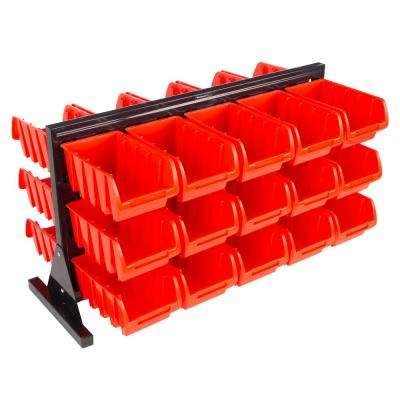 30-Compartment Small Parts Organizer Rack