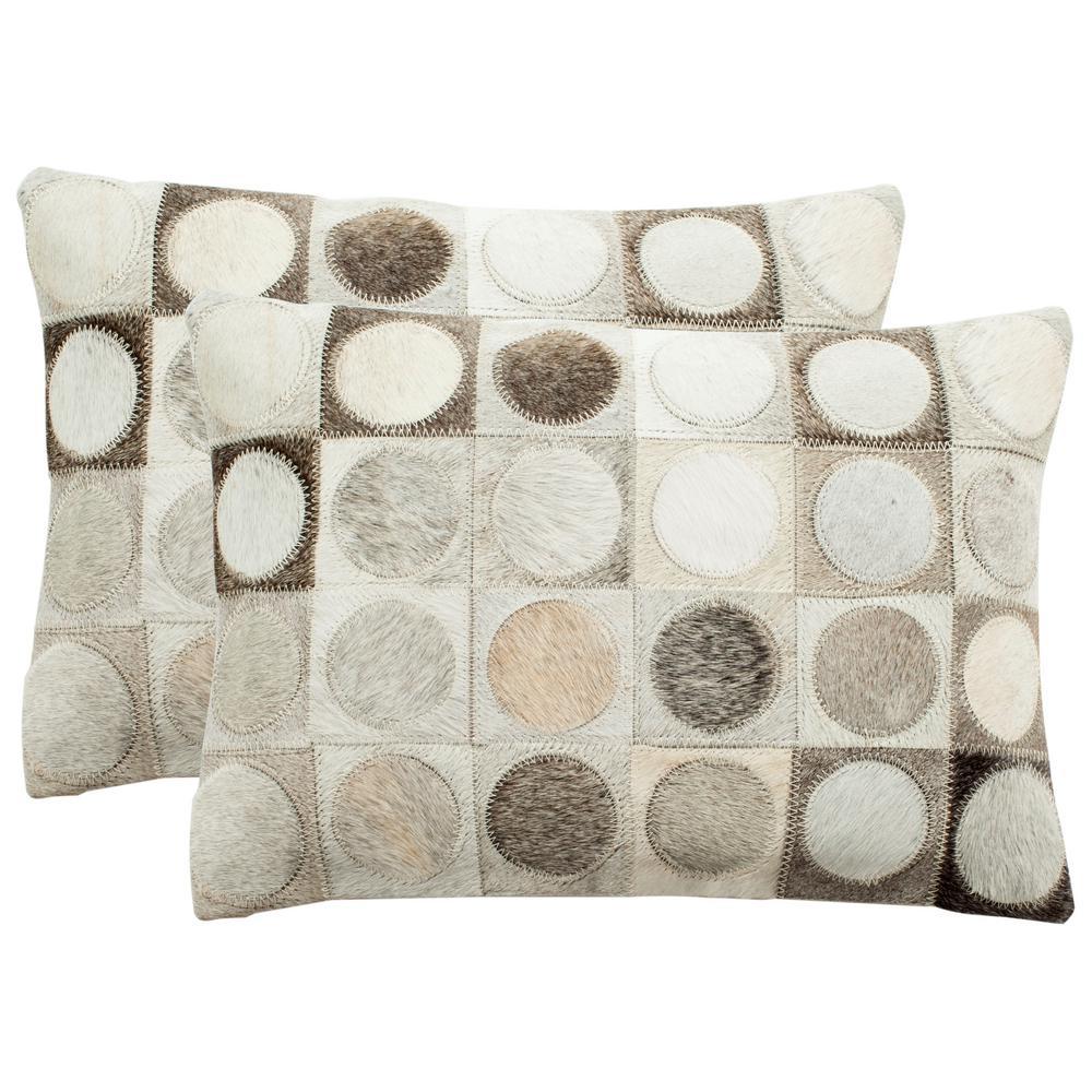 Safavieh Brigitte Cowhide Pillow (2-Pack) DEC208A-1420-SET2