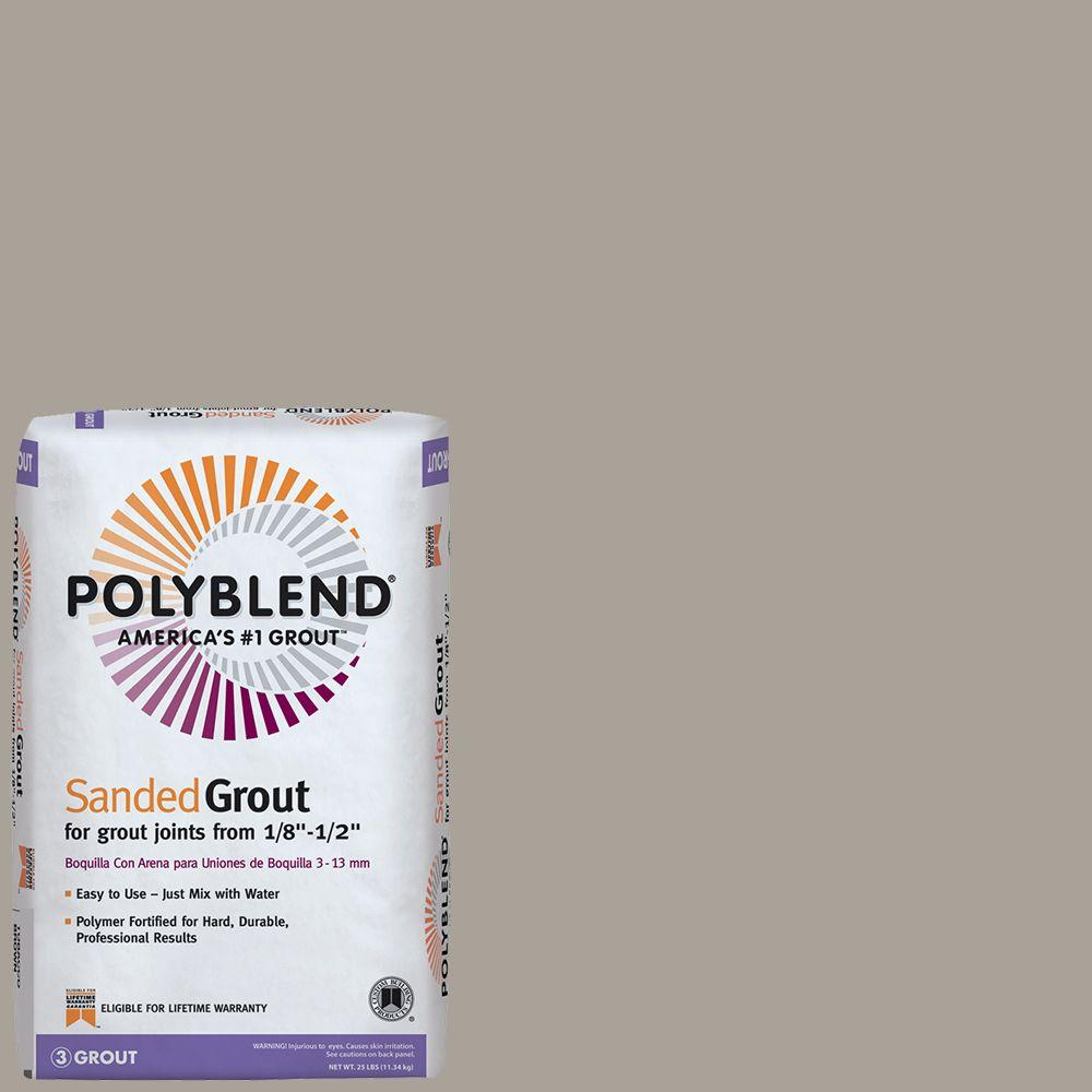 Custom Building Products Polyblend #543 Driftwood 25 lb. Sanded Grout