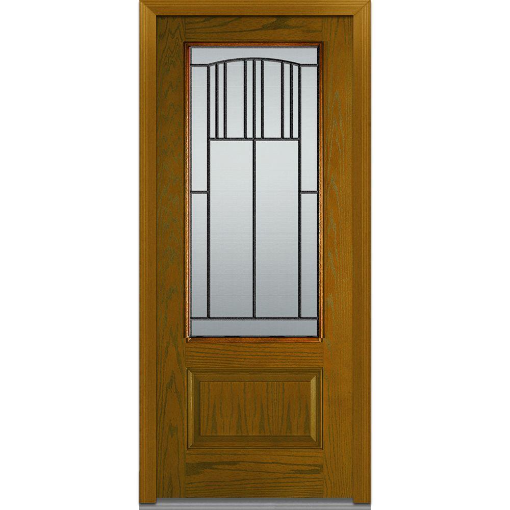 Mmi door 36 in x 80 in madison left hand 3 4 lite 1 for Door 95 100 doors 3