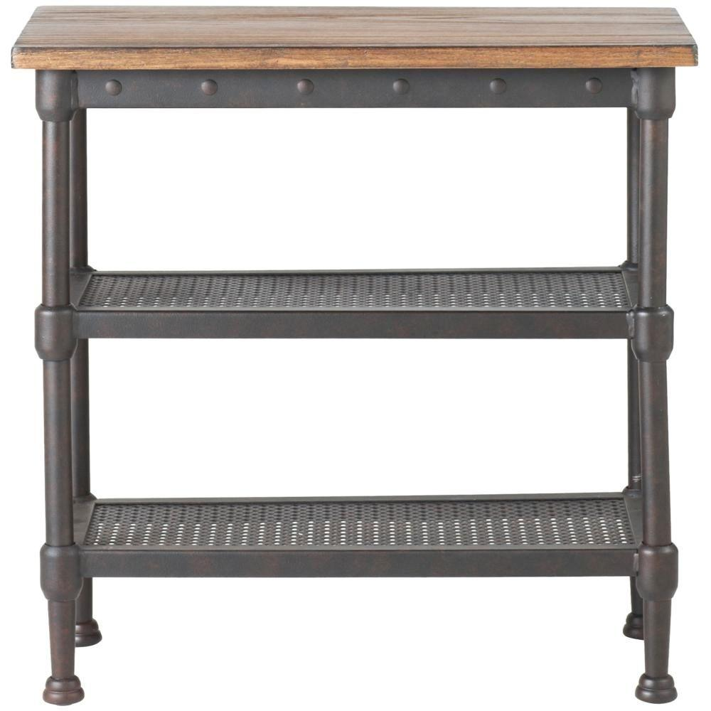 Home Decorators Collection Gentry Distressed Oak End Table