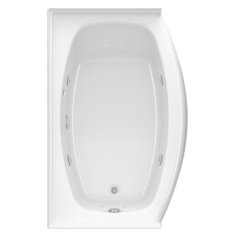 Aquatic Victoria Q 5 ft. Right Drain Acrylic Whirlpool Bath Tub in White