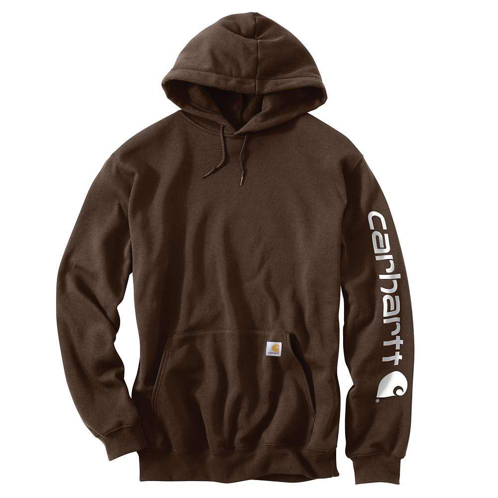 Carhartt Men's Regular X Large Dark Brown Cotton/Polyester Sweats