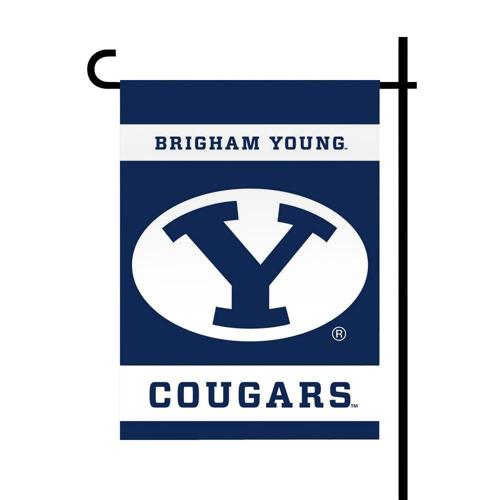 NCAA 13 in. x 18 in. Brigham Young 2-Sided Garden Flag
