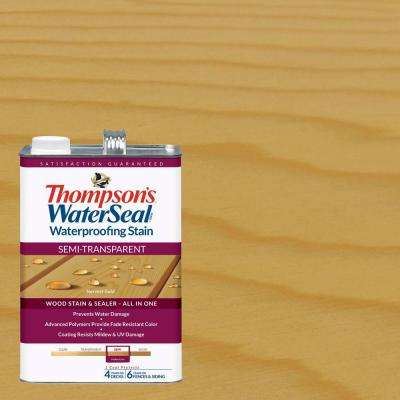 1 gal. Semi-Transparent Harvest Gold Waterproofing Stain Exterior Wood (4-Pack)